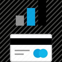 bars, card, credit, data icon