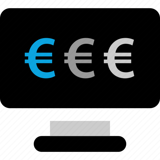 currency, euro, pc, web icon