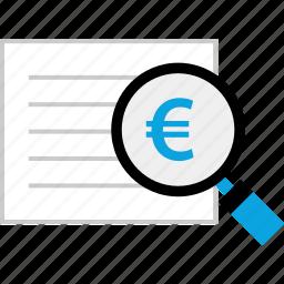 euro, page, report, seo icon