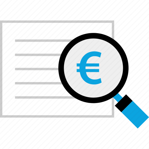 euro, page, report, seo icon