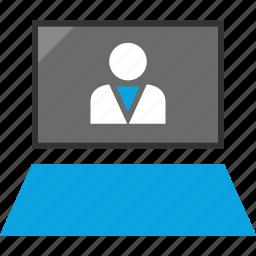 laptop, online, user, web icon