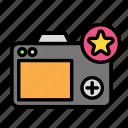 camera, device, fav, tech, technology icon