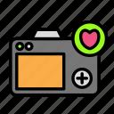 camera, device, love, tech, technology icon