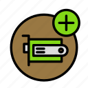 add, component, device, tech, technology icon