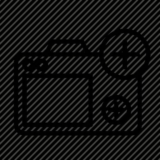 add, camera, device, tech, technology icon