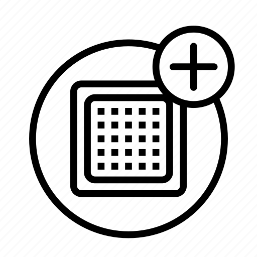 add, cpu, device, tech, technology icon