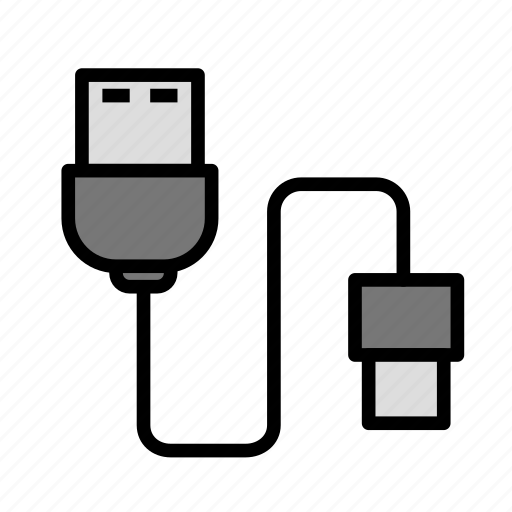 device, tech, technology, usbcable icon