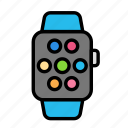 app, device, tech, technology, watch icon
