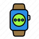 device, message, tech, technology, watch icon