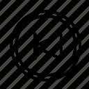 circle, device, previous, tech, technology icon