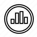 circle, device, stats, tech, technology icon