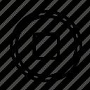 circle, device, stop, tech, technology icon