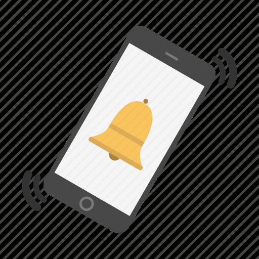alarm, bell, notice, notification, phone, telephone icon