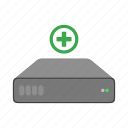 add, disk, hard drive, hd, new, plus icon