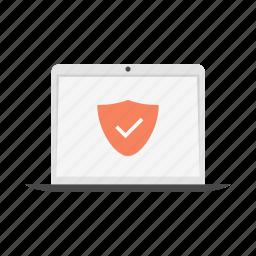 antivirus, device, laptop, notebook, safe icon