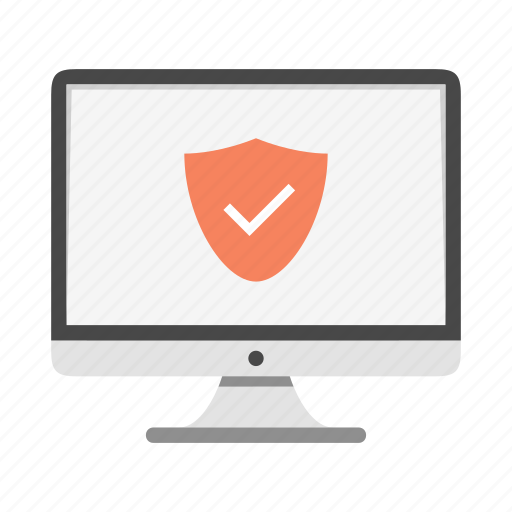 antivirus, certificate, device, imac, monitor, safe icon
