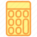 calculation, calculator, calculator icon, education, math icon