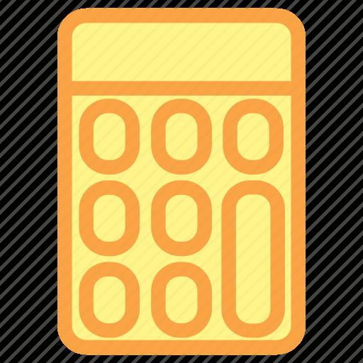 calculation, calculator, calculator icon, education, math icon