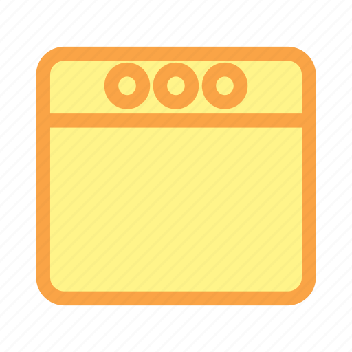 application, browser, navigator, website, window, window icon icon
