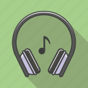 cool, earphones, great, music, retro, simply icon