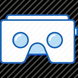 ar, augmented reality, cardboard, google, headset, virtual reality, vr icon