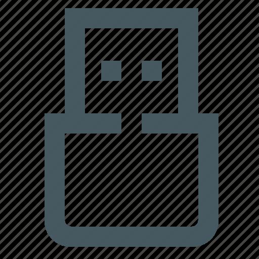 gizmo, network, simple, system, tech, technology, usb, usb stick icon