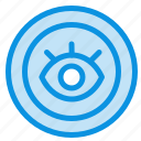 eye, service, support, technical icon