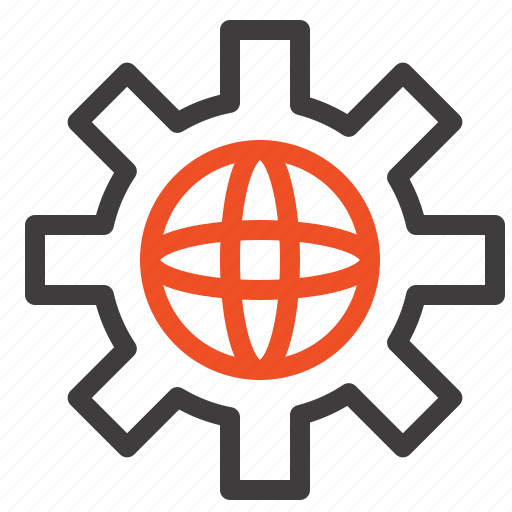 globe, setting, technical, world icon