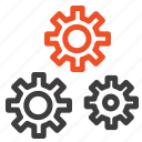 configuration, gears, preferences, service icon
