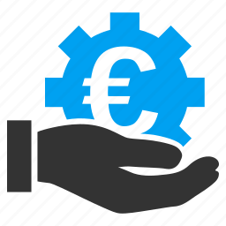business, development, euro service, finance, investment, money, support icon