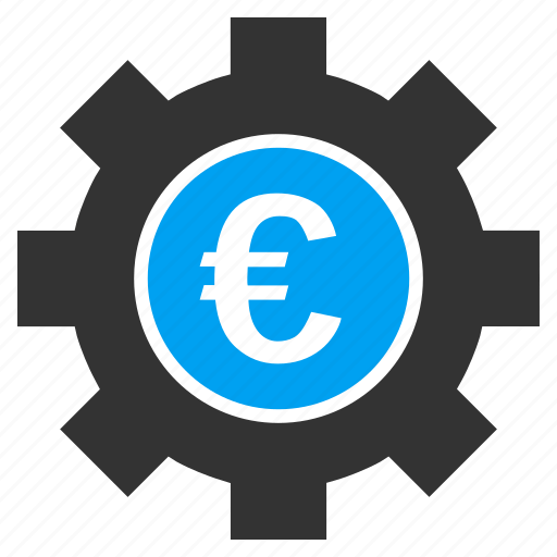 business, commerce, euro development, finance, financial, industry, technology icon