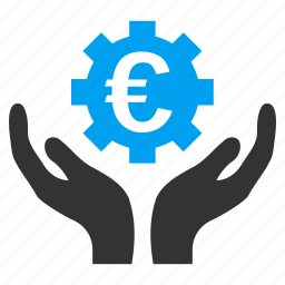 business, euro maintenance, finance, hands, money, settings, support icon