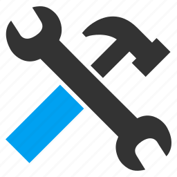 hammer, repair, service, spanner, tool, work, wrench icon