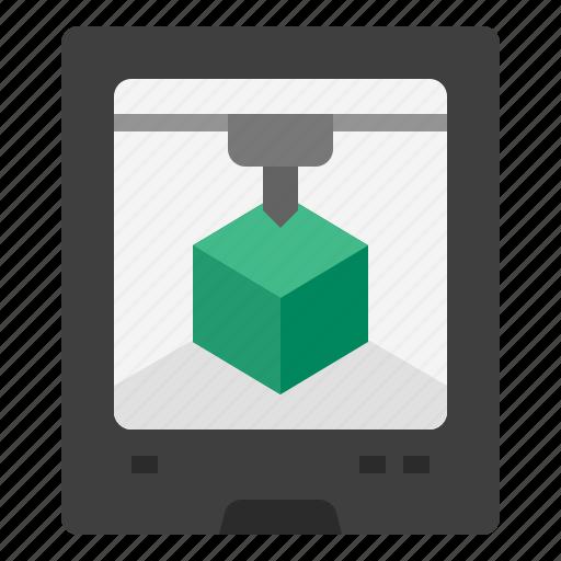 3d printing, model, print, printing, prototype, technology disruption icon