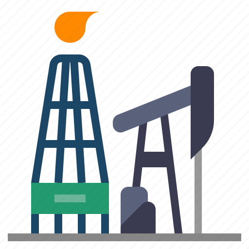 advanced oil and gas exploration and recovery, drilling rig, energy, petroleum, technology disruption icon