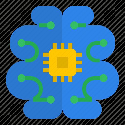 ai, artificial intelligence, brain, cyber, intelligence, smart, technology disruption icon