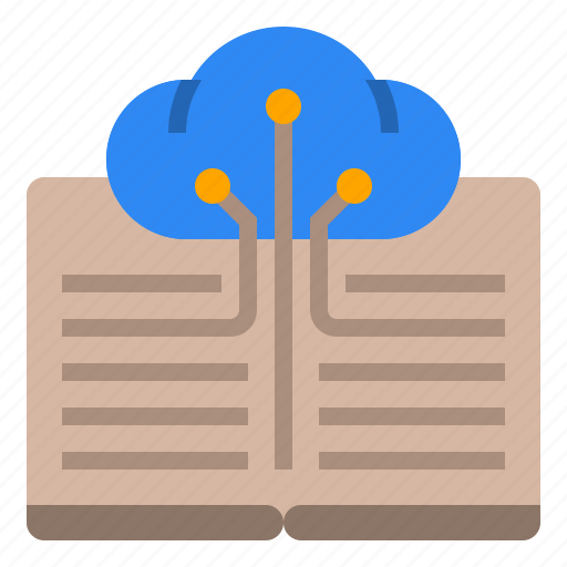 bookcloud, cloud, digital library, digital world, knowledge, technologies disruption icon