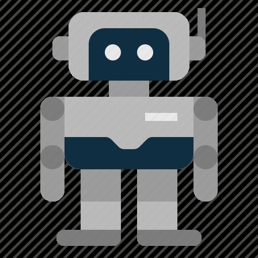 android, artificial intelligene, assistant, machine, robot, robotics, technologies disruption icon