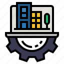 development, digital enterprise, it, smartcity, technology, technology disruption icon