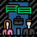 benefits, business, office, opensystem, organization, technology disruption icon