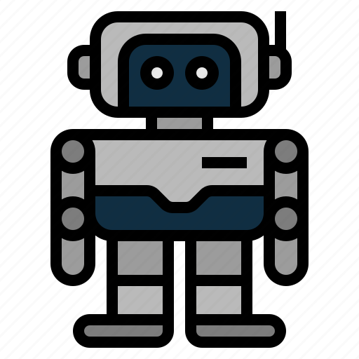 android, artificial intelligence, assistant, machine, robot, robotics, technology disruption icon