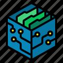 folder, model, save, simulation, simulation and digital twins, technology disruption icon
