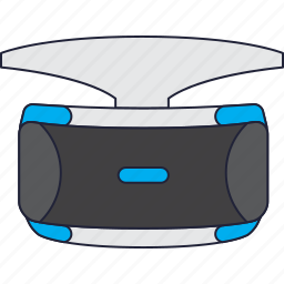 playstation, playstation vr, reality, virtual icon