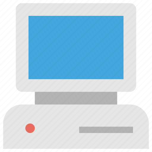 computer, device, old, pc, tech, technology, vintage icon