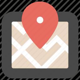 gps, location, map, navigation, pin, tech, technology icon