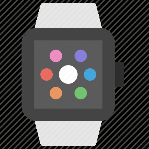 apple, clock, device, digital, tech, technology, watch icon