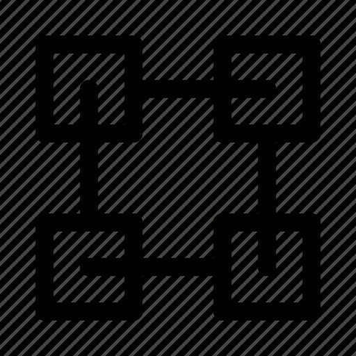 blockchain, coding, device, electronic, electronics, program, technology icon