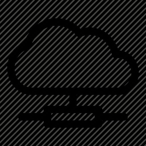 cloud, computing, database, forecast, server, technology, upload icon