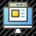 browser, computer, desktop, interface, laptop, monitor icon