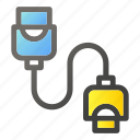 c, cable, in, plug, sign, socket, usbtype icon
